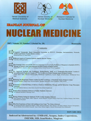 Iranian Journal of Nuclear Medicine